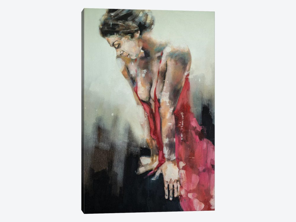 Figure With Red Dress 9-9-19 by Thomas Donaldson 1-piece Canvas Print