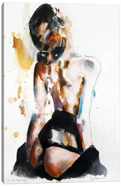 Back Study 12-3-18 Canvas Art Print