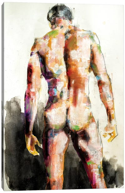 Male Back 7-30-19 Canvas Art Print