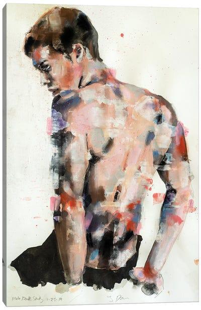 Male Back Study 11-25-19 Canvas Art Print