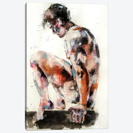 Male Figure 10-14-19 3-Piece Canvas #TDO38} by Thomas Donaldson Canvas Wall Art