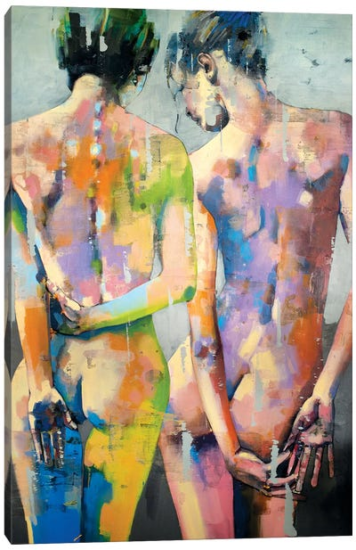 Two Female Figures 1-7-20 Canvas Art Print