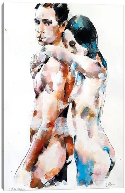 Two Figures 6-26-18 Canvas Art Print