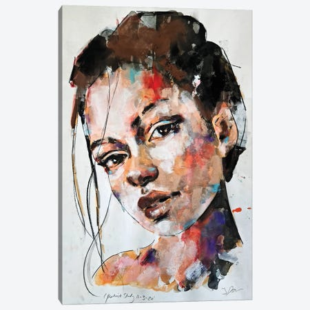 Portrait Study 11-3-20 Canvas Print #TDO61} by Thomas Donaldson Canvas Art Print