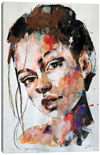 Portrait Study 11-3-20 Canvas Art Print