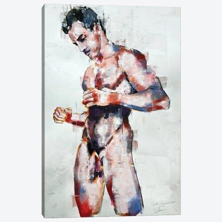 Standing Figure 10-26-20 Canvas Print #TDO68} by Thomas Donaldson Canvas Art Print