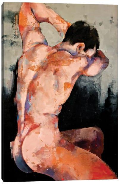 Male Back Study 12-6-20 Canvas Art Print