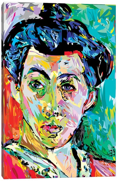 Madame M. (Homage To Henri Matisse) Canvas Print #TDR102