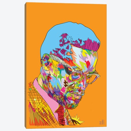 Malcolm X Canvas Print #TDR103} by TECHNODROME1 Canvas Art Print
