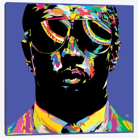 P. Diddy Canvas Print #TDR107} by TECHNODROME1 Canvas Wall Art