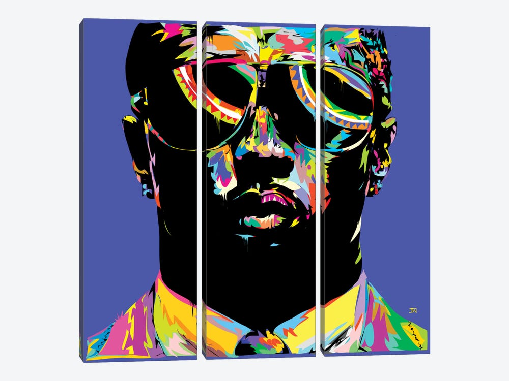 P. Diddy by TECHNODROME1 3-piece Canvas Wall Art