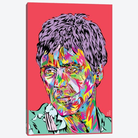 Scarface II Canvas Print #TDR109} by TECHNODROME1 Canvas Art Print