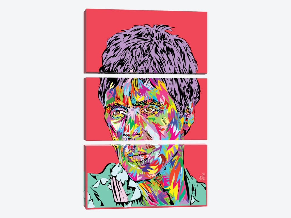 Scarface II by TECHNODROME1 3-piece Canvas Wall Art