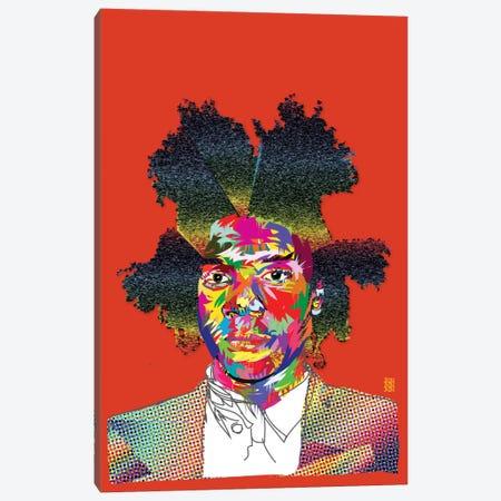 Basquiat Canvas Print #TDR10} by TECHNODROME1 Canvas Art Print