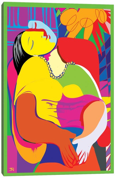 The Dream (Homage To Pablo Picasso) Canvas Print #TDR111