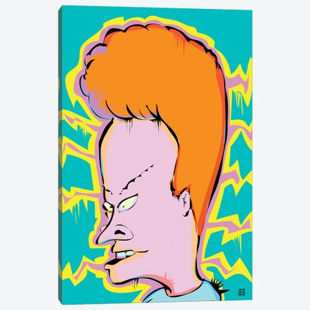 Beavis Canvas Print #TDR114} by TECHNODROME1 Art Print