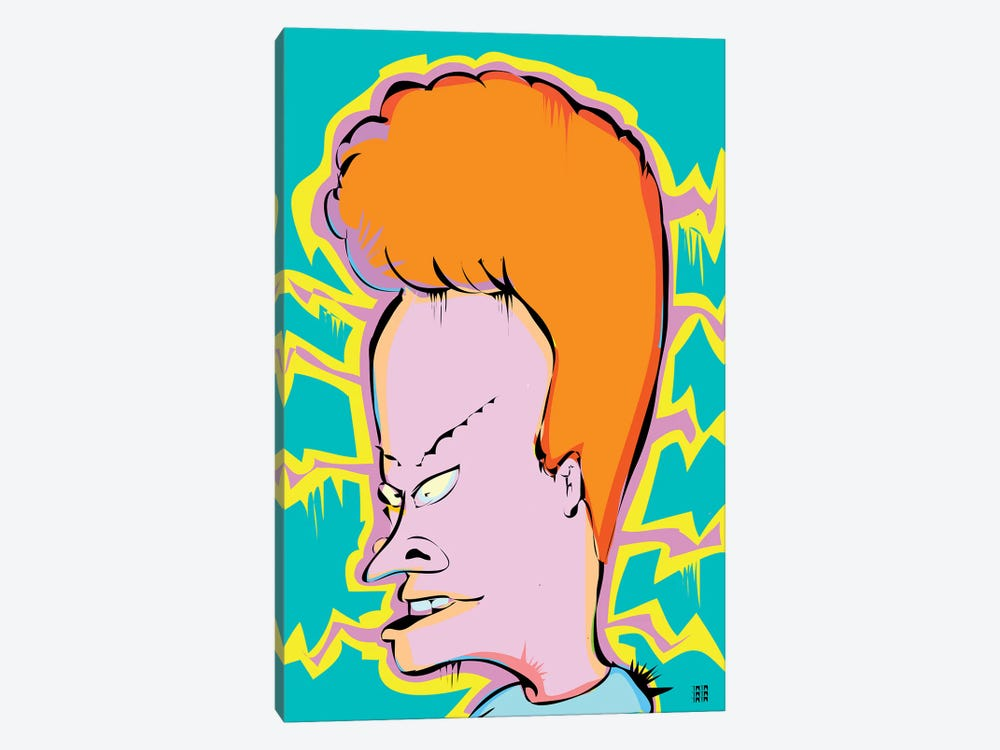 Beavis by TECHNODROME1 1-piece Canvas Wall Art