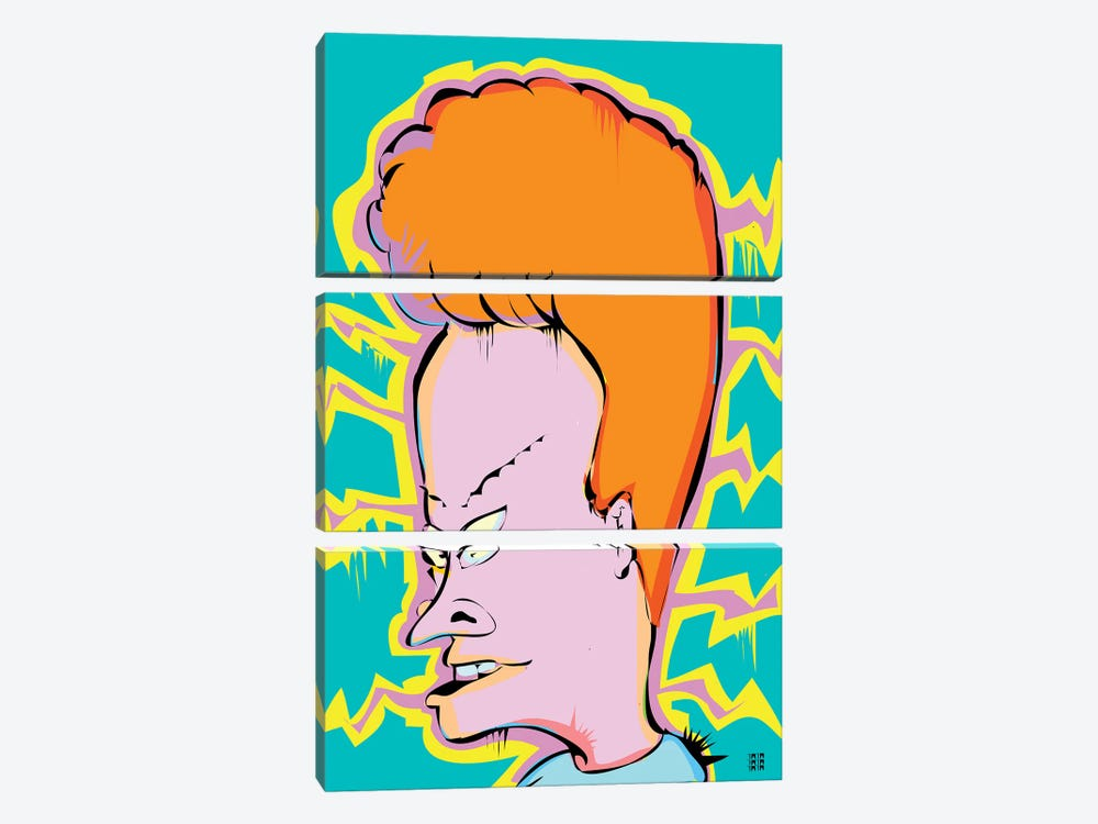 Beavis by TECHNODROME1 3-piece Canvas Artwork