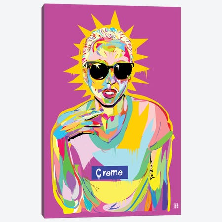 Gaga Canvas Print #TDR117} by TECHNODROME1 Art Print