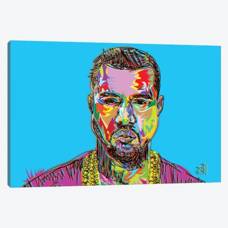 Kanye Canvas Print #TDR119} by TECHNODROME1 Canvas Wall Art