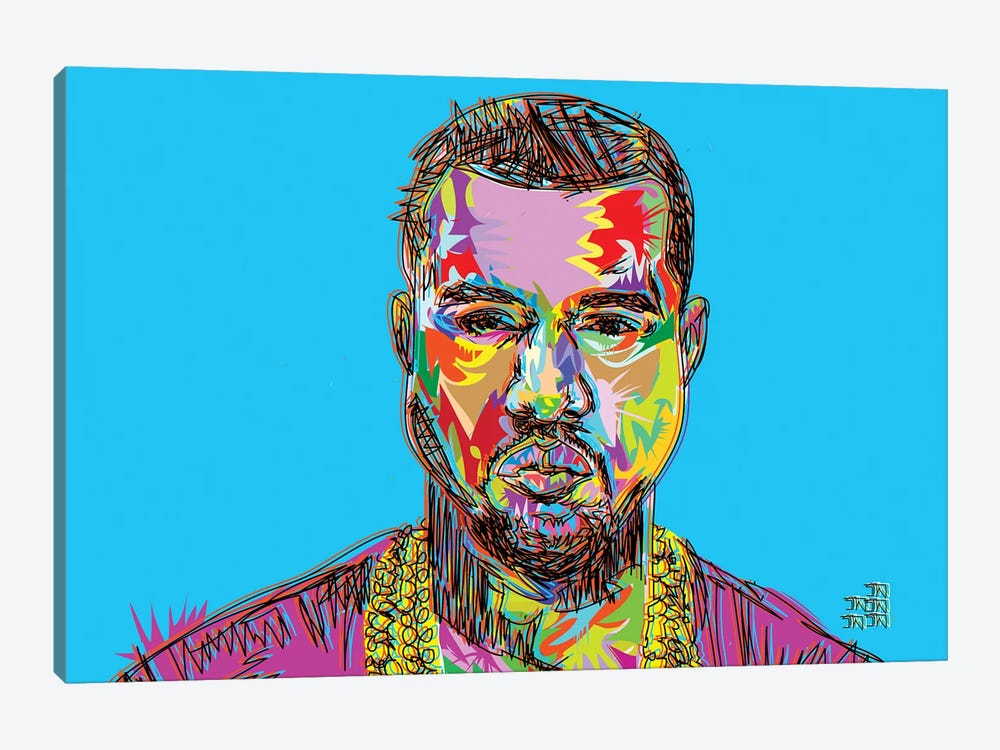 Kanye by TECHNODROME1 1-piece Canvas Print