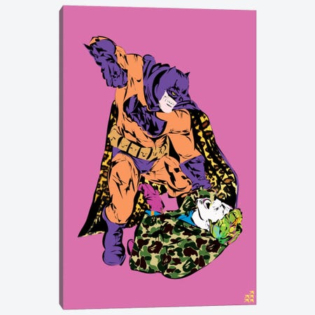 Batman & Joker Canvas Print #TDR11} by TECHNODROME1 Canvas Art Print