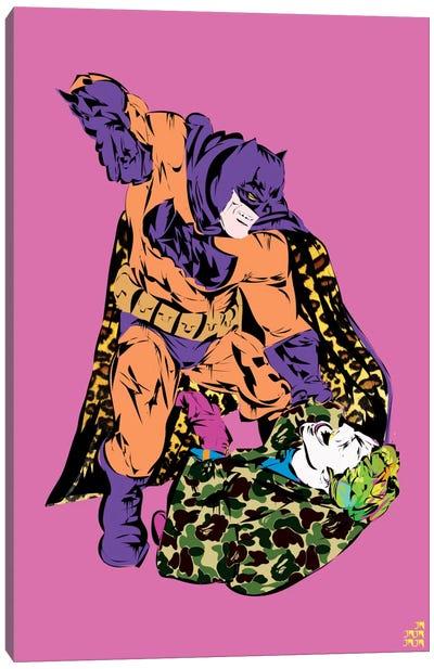 Batman & Joker Canvas Print #TDR11
