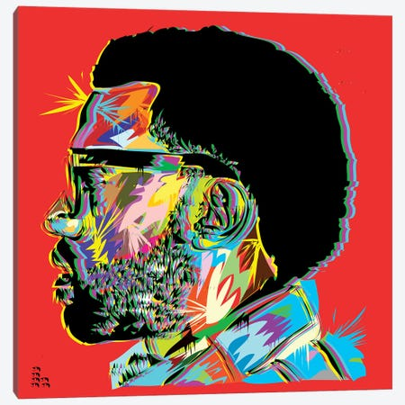 Kanye West I Canvas Print #TDR120} by TECHNODROME1 Canvas Art Print