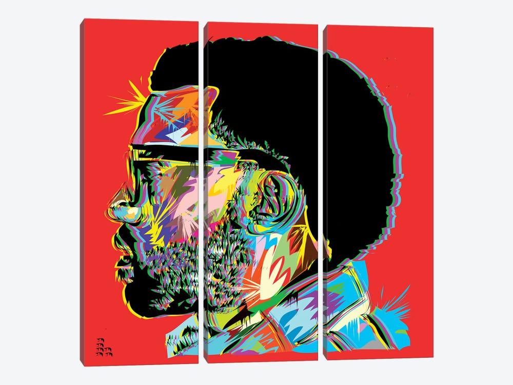 Kanye West I by TECHNODROME1 3-piece Art Print