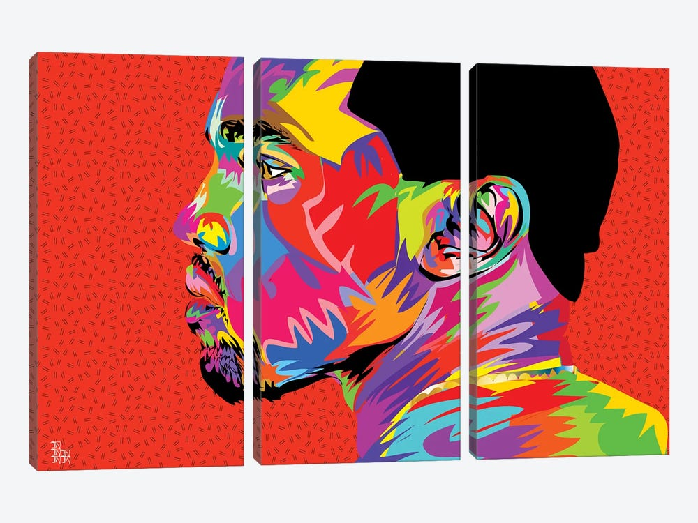 Kanye West II by TECHNODROME1 3-piece Canvas Art