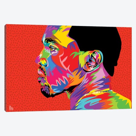Kanye West II Canvas Print #TDR121} by TECHNODROME1 Canvas Art Print