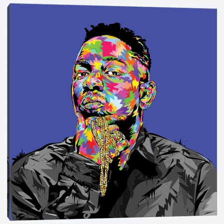 Kendrick I Canvas Print #TDR122} by TECHNODROME1 Canvas Print