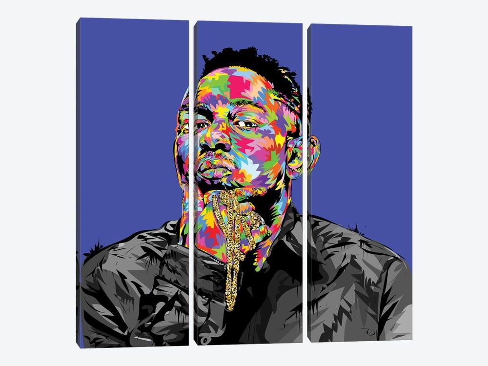 Kendrick I by TECHNODROME1 3-piece Canvas Art Print