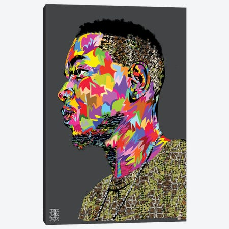 Kendrick II Canvas Print #TDR123} by TECHNODROME1 Canvas Art Print