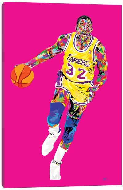 Magic Johnson Canvas Art Print