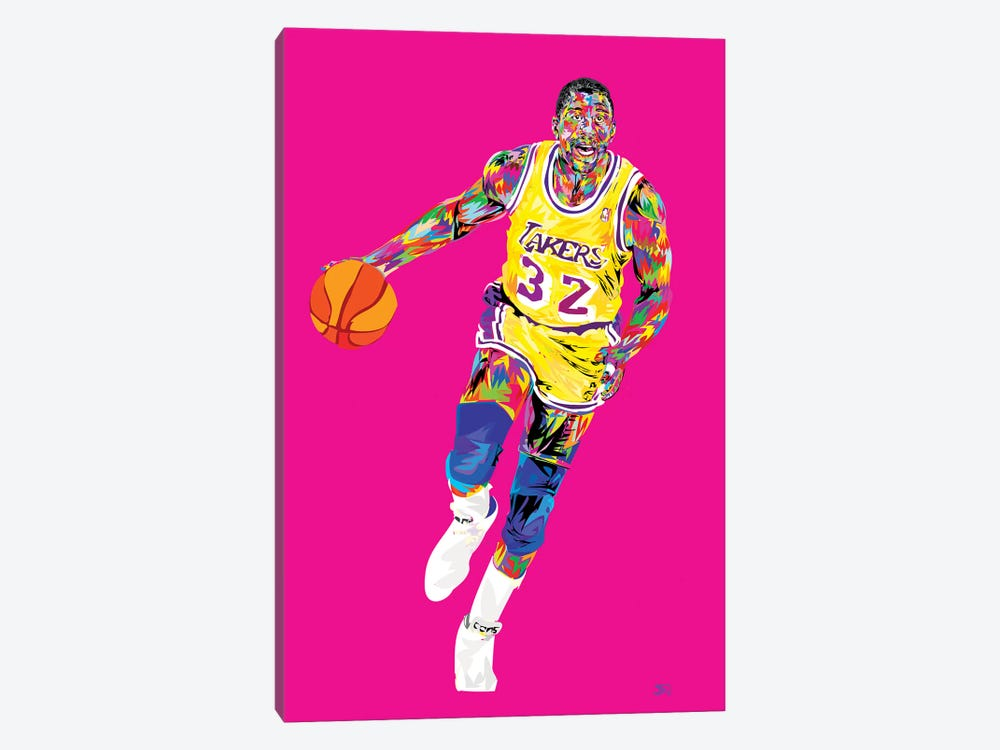 Magic Johnson by TECHNODROME1 1-piece Canvas Art