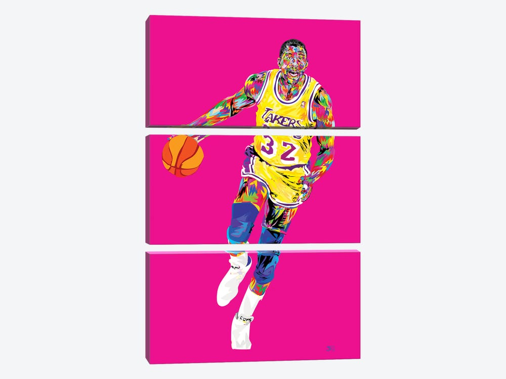 Magic Johnson by TECHNODROME1 3-piece Canvas Artwork