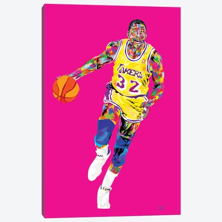 Magic Johnson 3-Piece Canvas #TDR125} by TECHNODROME1 Canvas Art