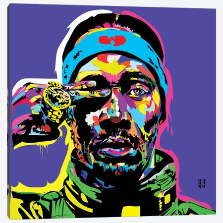 RZA Canvas Print #TDR126} by TECHNODROME1 Canvas Art