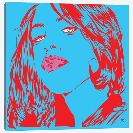 Aaliyah Canvas Print #TDR128} by TECHNODROME1 Canvas Art Print