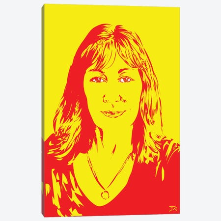 Anjelica Huston Canvas Print #TDR129} by TECHNODROME1 Canvas Print