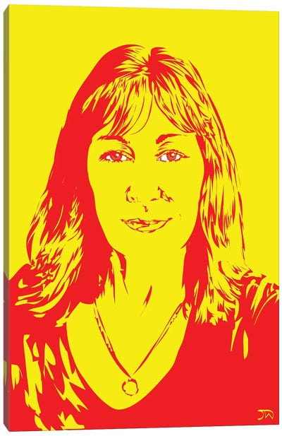 Anjelica Huston Canvas Art Print