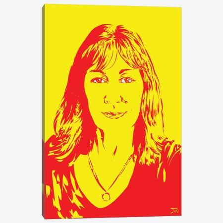 Anjelica Huston Canvas Print #TDR129} by TECHNODROME1 Canvas Print
