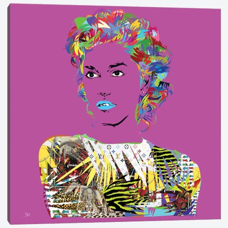Gwen Canvas Print #TDR133} by TECHNODROME1 Canvas Wall Art