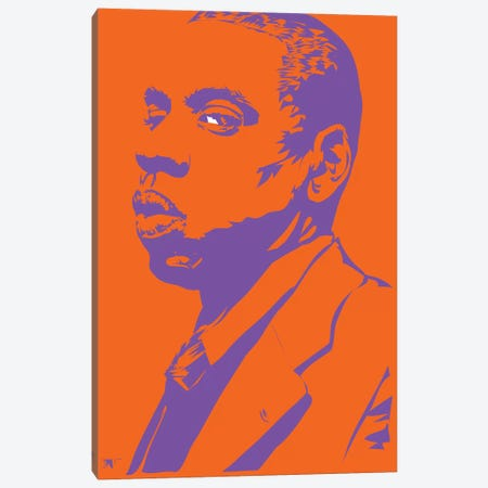 Jay-Z Lizardman Canvas Print #TDR134} by TECHNODROME1 Canvas Print