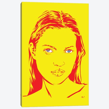 Kate Moss Canvas Print #TDR135} by TECHNODROME1 Canvas Print