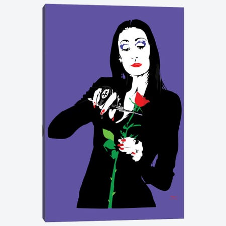 Morticia Addams Canvas Print #TDR136} by TECHNODROME1 Canvas Art Print