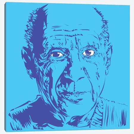 Picasso Canvas Print #TDR139} by TECHNODROME1 Canvas Wall Art