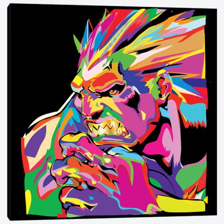 Blanka Canvas Print #TDR13} by TECHNODROME1 Art Print