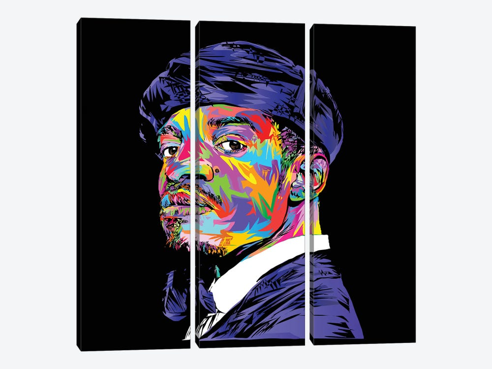 André 3000 by TECHNODROME1 3-piece Canvas Print